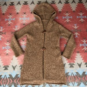 Vintage Marled Knit Long Length Duster Sweater